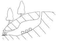 窯の断面模式図