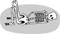 屈肢葬(イメージ図)