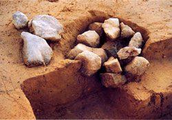 旧石器時代の礫群跡