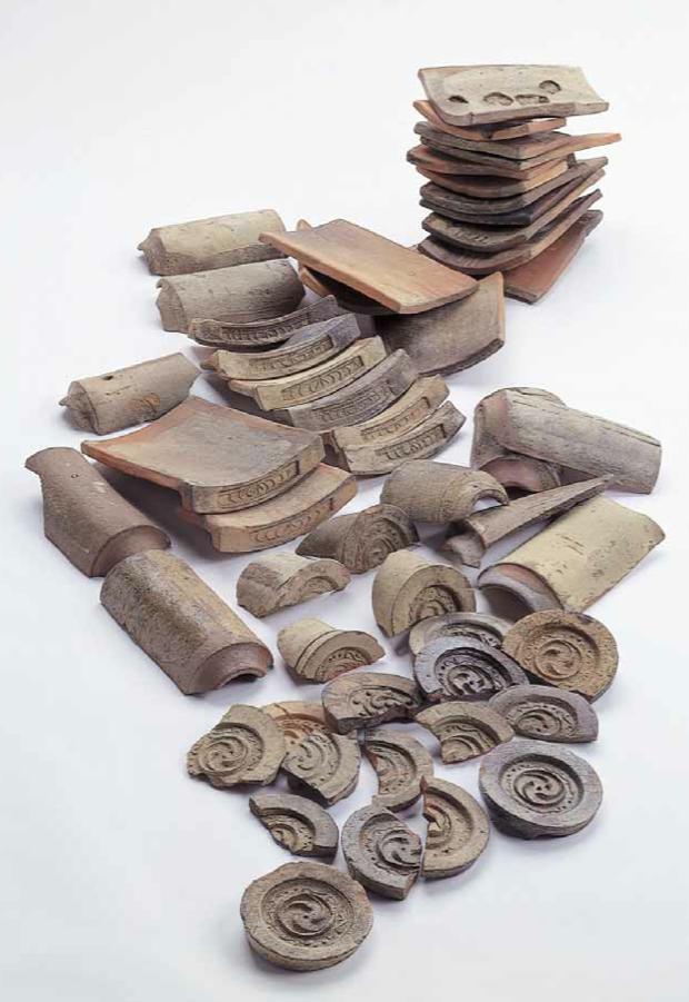 堂平窯で作られた瓦