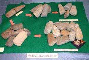 磨製石斧の再利用