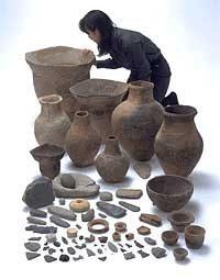 上野原遺跡の出土品