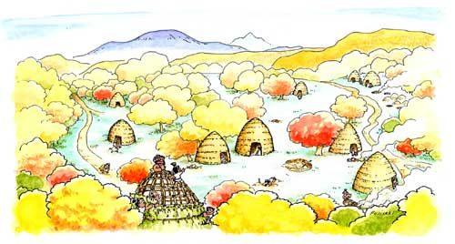 上野原縄文の森の様子(イメージ図)